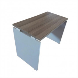 Office Desk - 100cm - White/Beige